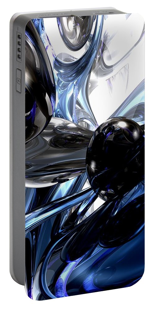 3d Portable Battery Charger featuring the digital art Storm Shadow Abstract by Alexander Butler