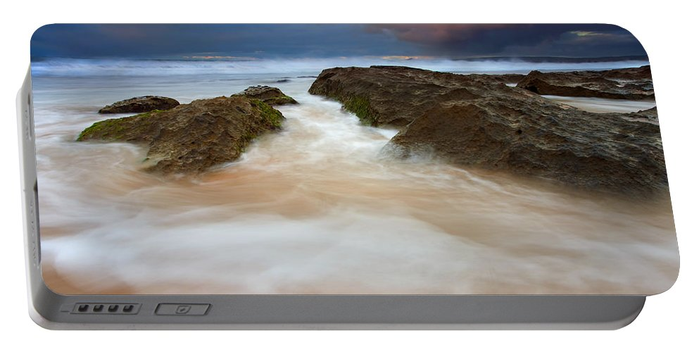 Seascape Portable Battery Charger featuring the photograph Storm Shadow by Mike Dawson