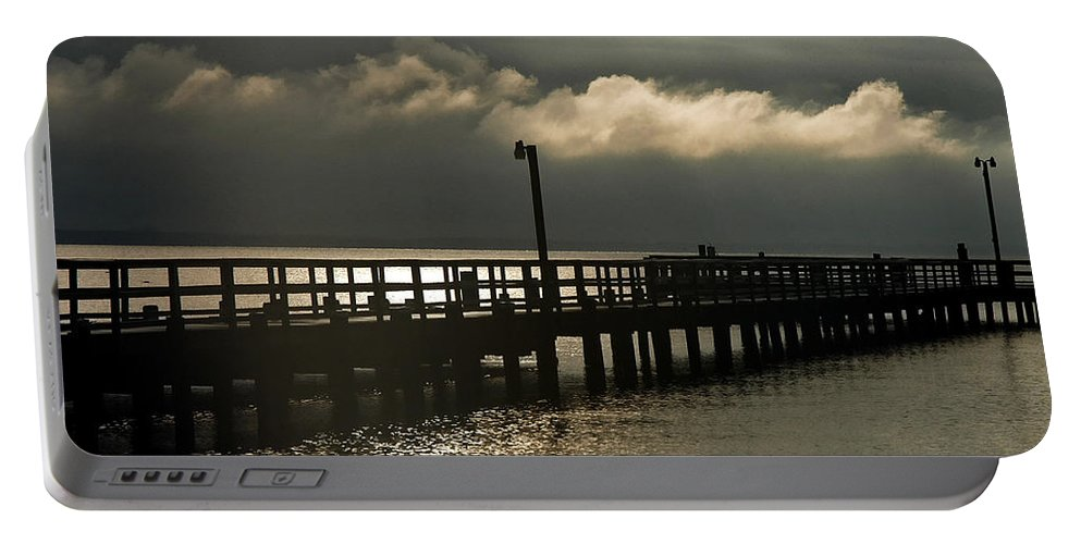 Clay Portable Battery Charger featuring the photograph Storms Brewin' by Clayton Bruster