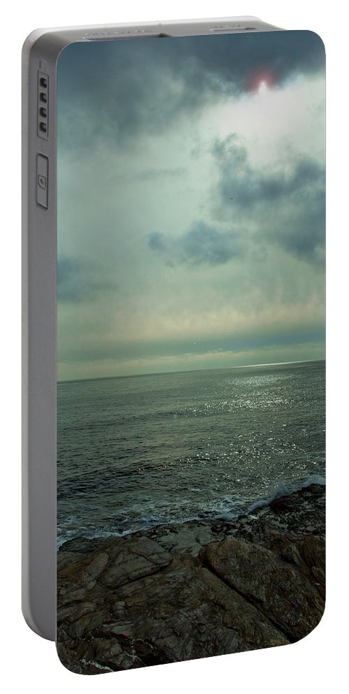 Ocean Portable Battery Charger featuring the photograph Stormy Day by Steven Natanson