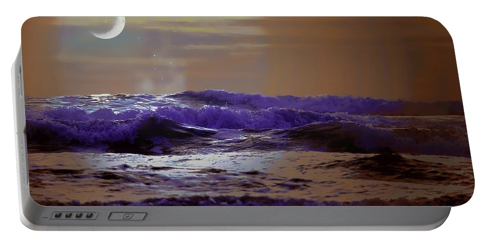 Sea Portable Battery Charger featuring the photograph Stormy Night by Aaron Berg