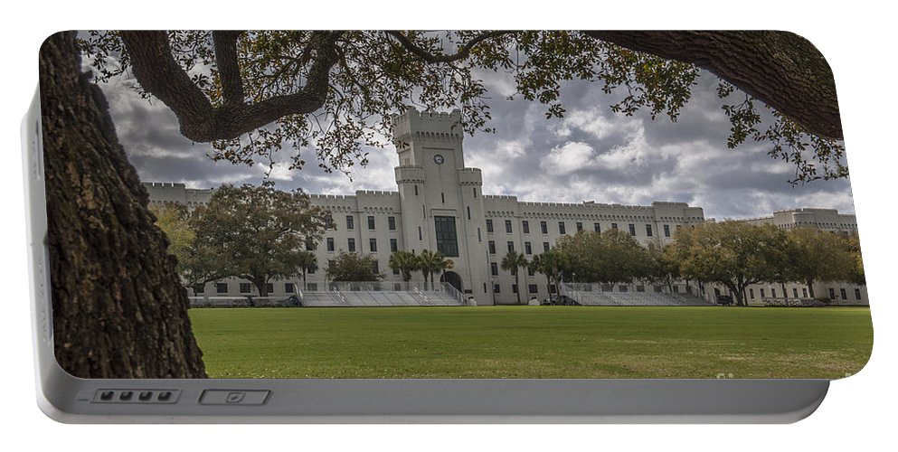 Citadel Portable Battery Charger featuring the photograph Stormy Skies Over The Citadel by Dale Powell
