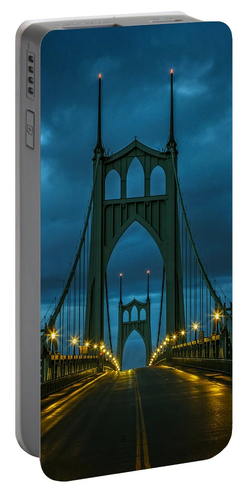 Stormy St. Johns Portable Battery Charger featuring the photograph Stormy St. Johns by Wes and Dotty Weber