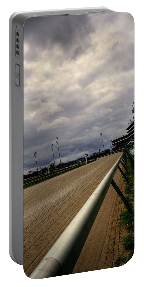 Royal Portable Battery Charger featuring the photograph Stormy Track by FineArtRoyal Joshua Mimbs