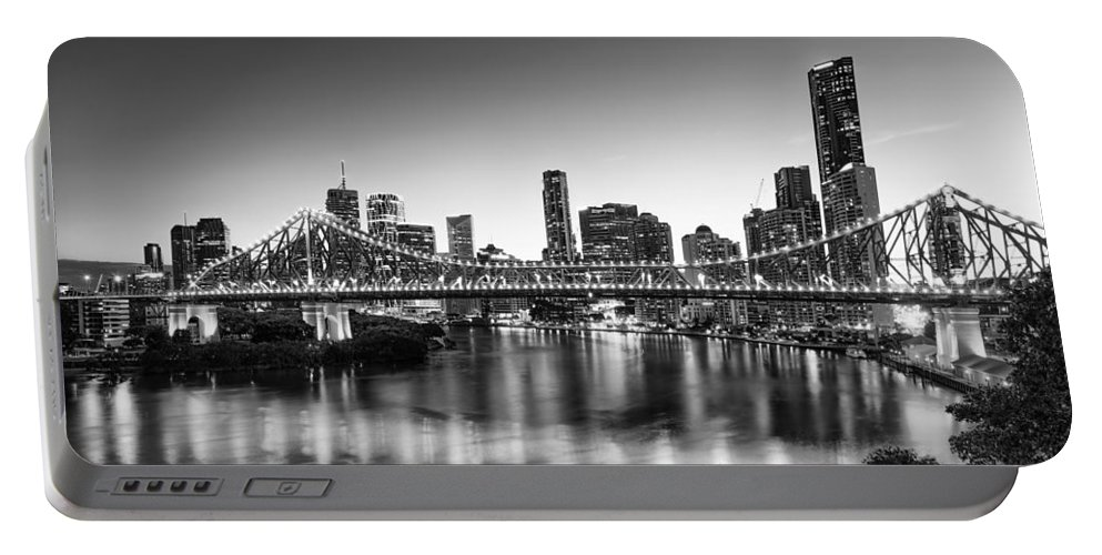 Story Bridge Portable Battery Charger featuring the photograph Story Bridge Brisbane by Charles King