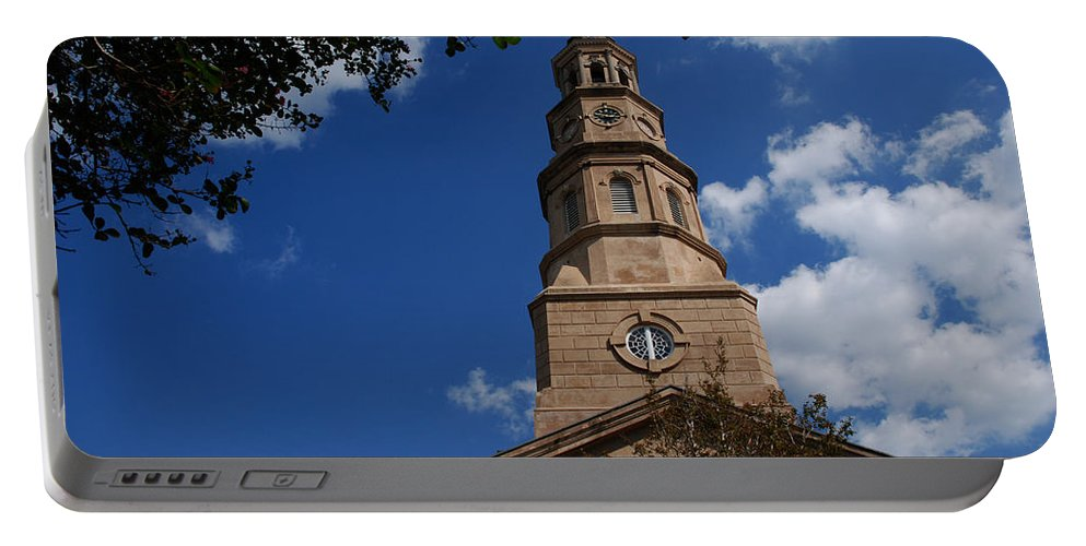 Photography Portable Battery Charger featuring the photograph St.philips Church Charleston Sc by Susanne Van Hulst