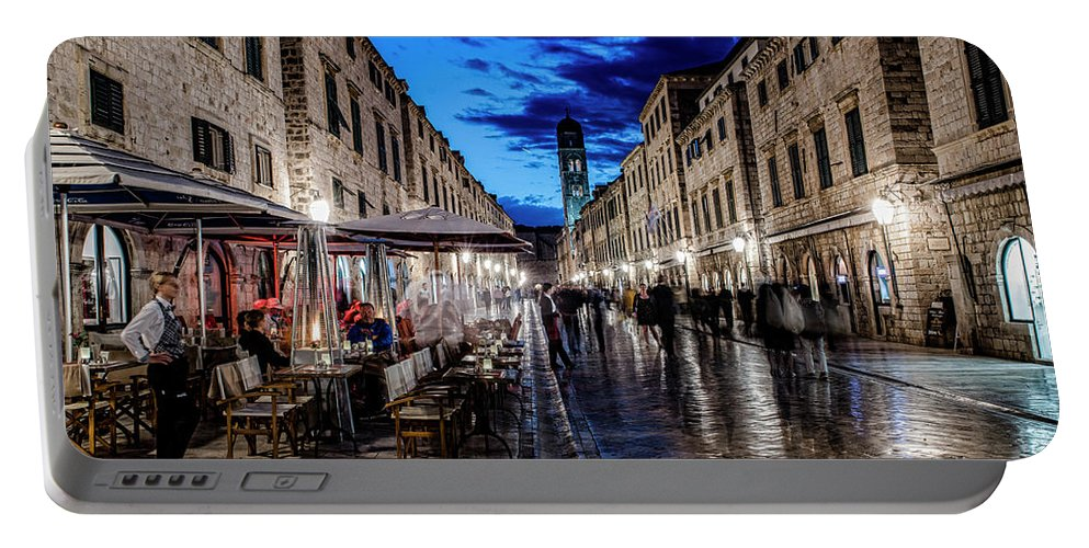 Portable Battery Charger featuring the photograph Stradun By Light by Brent Kaire