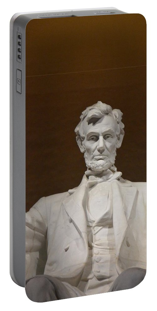 Nations Capital Portable Battery Charger featuring the photograph Straight On Abe by Brian O'Kelly