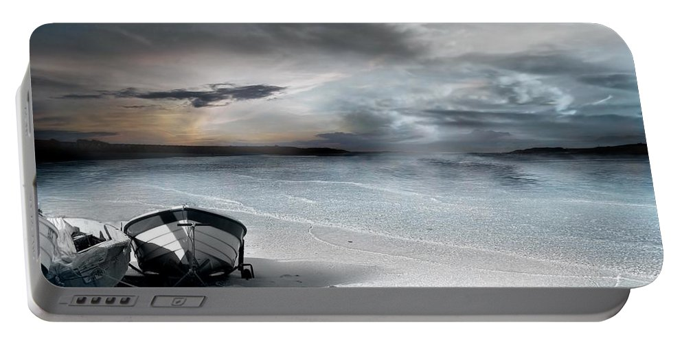 Water Portable Battery Charger featuring the photograph Stranded by Jacky Gerritsen