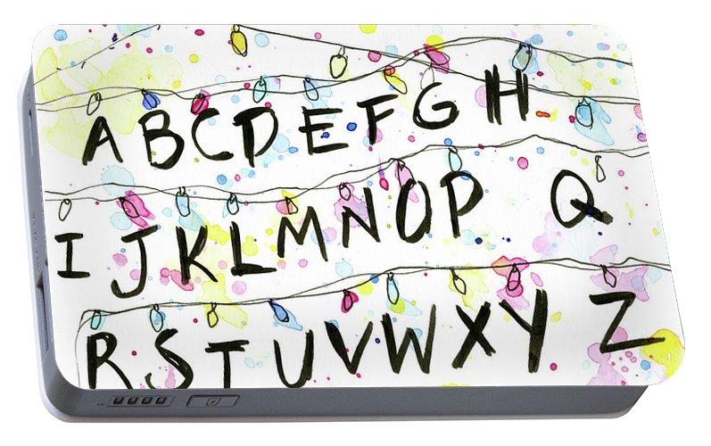 Portable Christmas Lights.Stranger Things Alphabet Wall Christmas Lights Portable Battery Charger