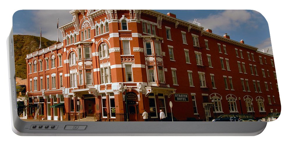 Strater Hotel Durango Colorado Portable Battery Charger featuring the photograph Strater Hotel 1887 by David Lee Thompson