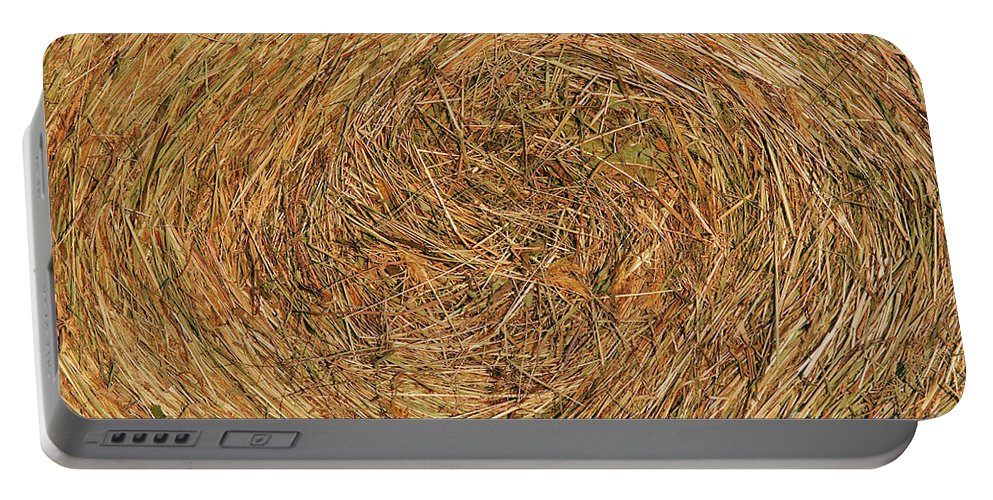 Hay Portable Battery Charger featuring the photograph Straw by Michal Boubin