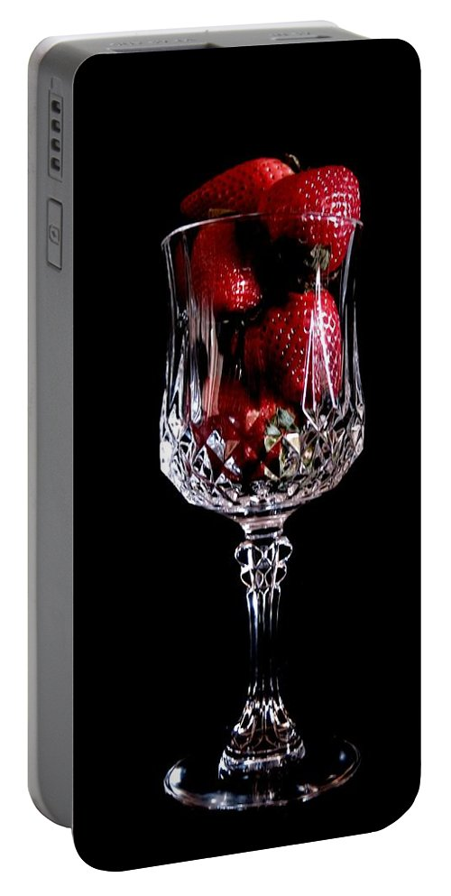 Strawberry Portable Battery Charger featuring the photograph Strawberries Neat by Tim Beebe