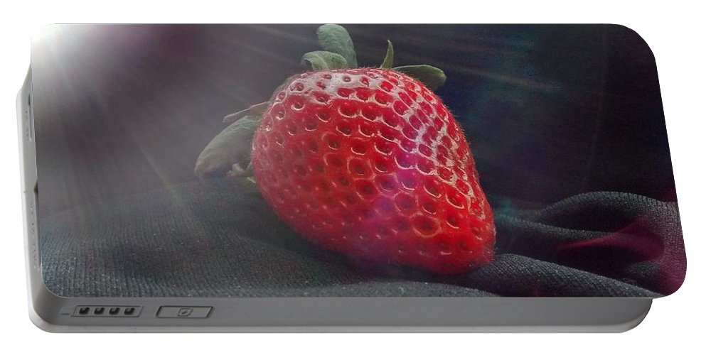 Strawberry Portable Battery Charger featuring the photograph Strawberries Raise by Sylvester Wofford