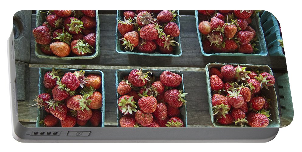Strawberry Portable Battery Charger featuring the photograph Strawberries by Steven Dunn