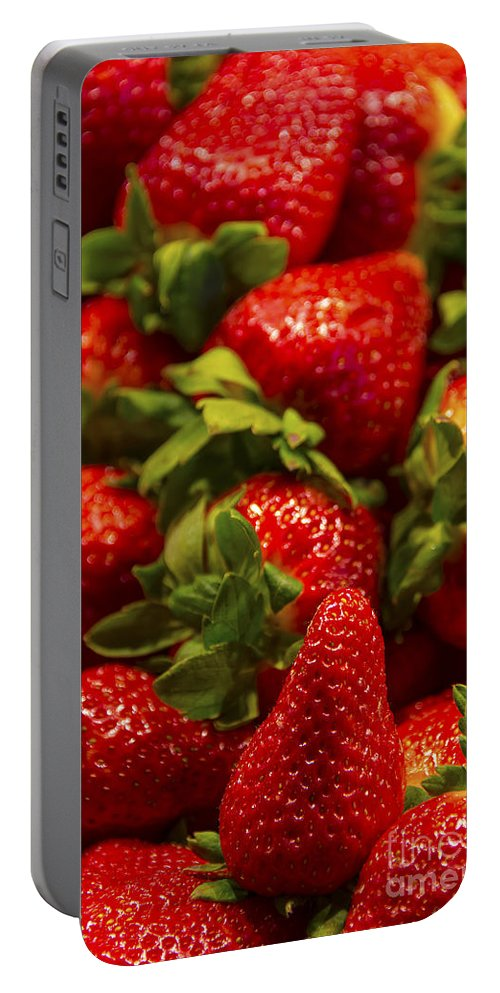 Apple Portable Battery Charger featuring the photograph Strawberries by Svetlana Sewell