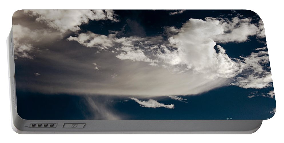 Clay Portable Battery Charger featuring the photograph Streakin' Cloud by Clayton Bruster