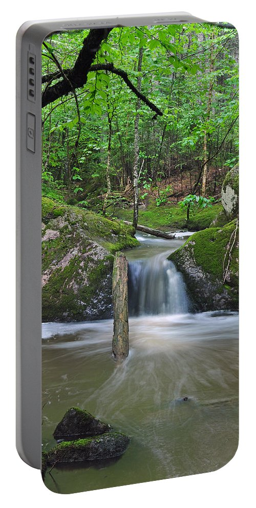 Waterfall Portable Battery Charger featuring the photograph Stream Waterfall by Glenn Gordon