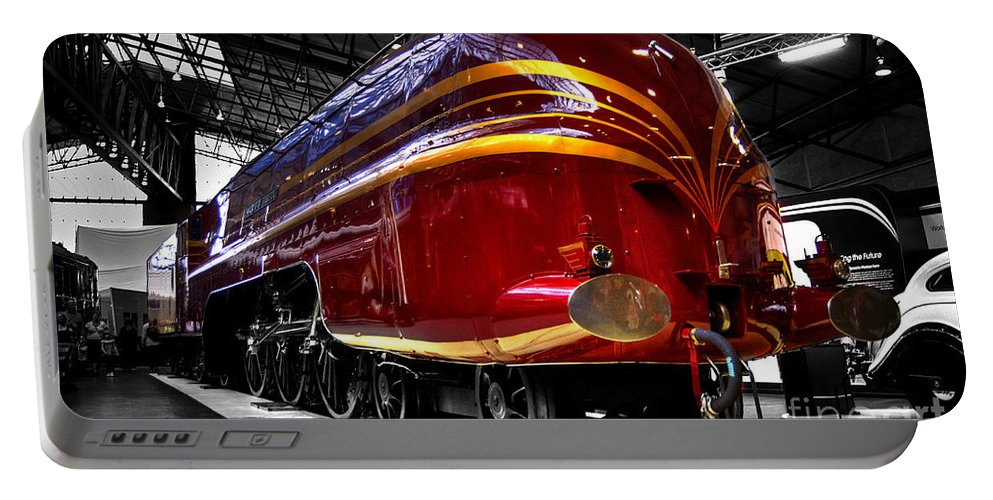 Red Portable Battery Charger featuring the photograph Streamlined For Speed by Rob Hawkins