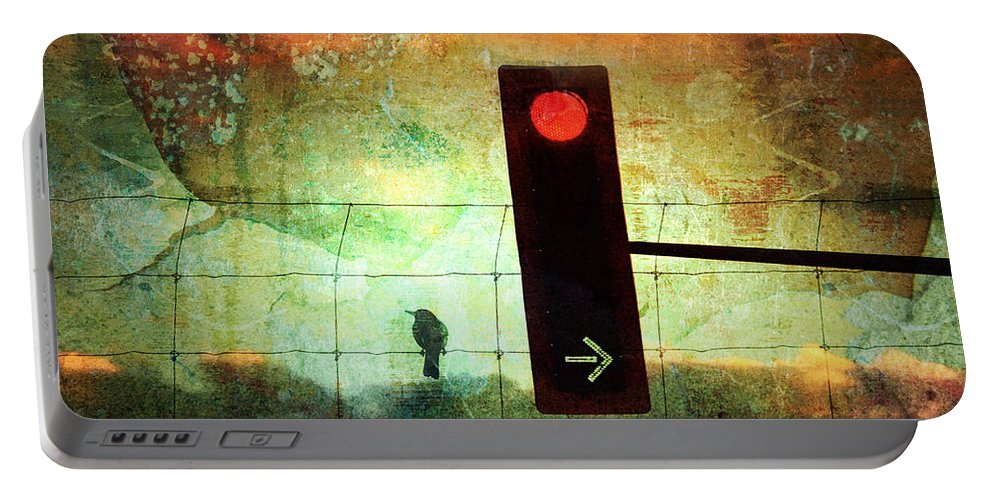 Street Portable Battery Charger featuring the photograph Street Lights And Cold Nights by Tara Turner