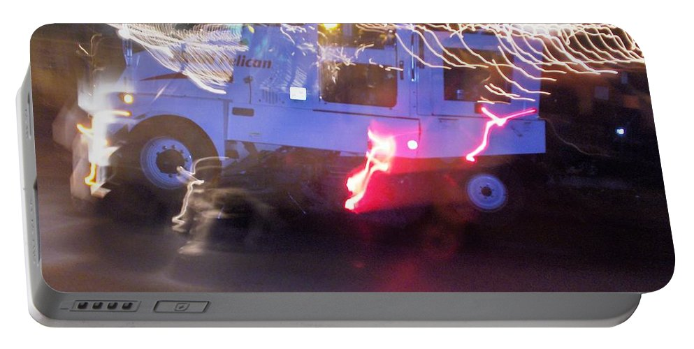 Photograph Portable Battery Charger featuring the photograph Street Sweeper by Thomas Valentine
