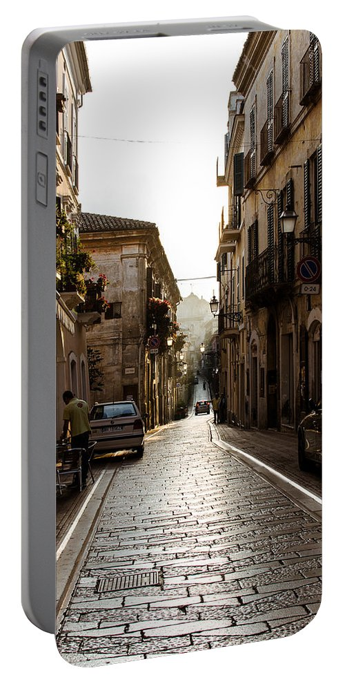 Streets Of Italy Portable Battery Charger featuring the photograph Streets Of Italy - Citta Sant Angelo 2 by Andrea Mazzocchetti