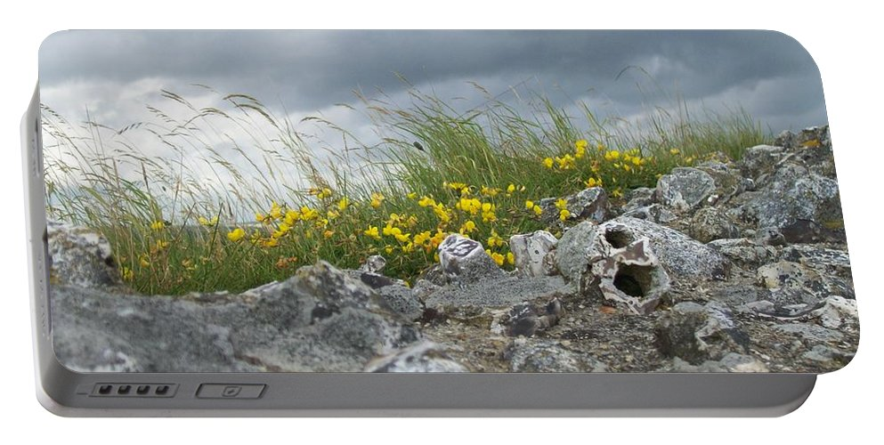 Old Portable Battery Charger featuring the photograph Striking Ruins by Mary Mikawoz