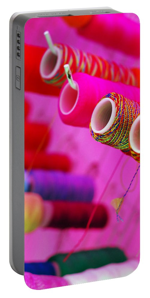 Color Portable Battery Charger featuring the photograph String Theory by Skip Hunt