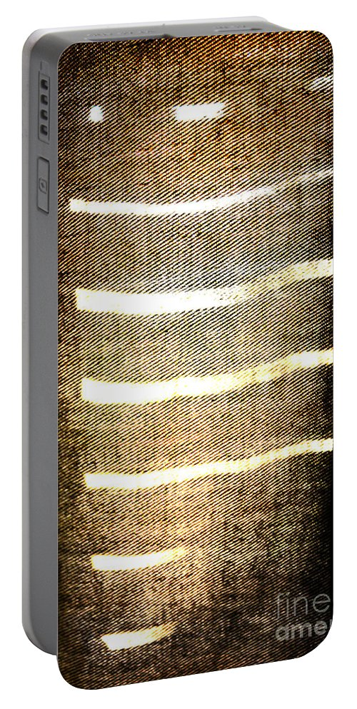Abstract Portable Battery Charger featuring the photograph Stripes And Texture by Todd Blanchard