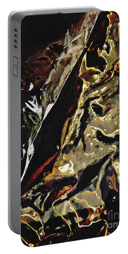 Reflections Portable Battery Charger featuring the digital art Stroller Series 3 by Sarah Loft