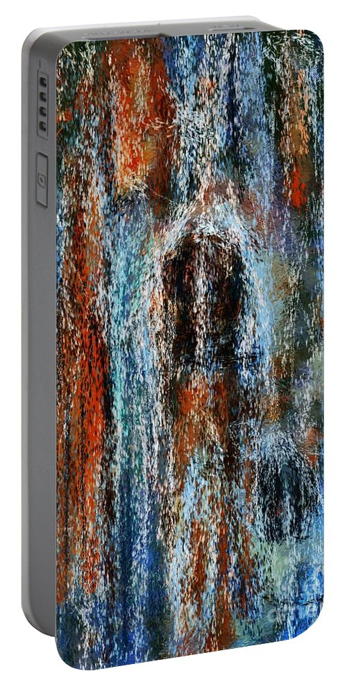 Portable Battery Charger featuring the digital art Stump Revealed by David Lane