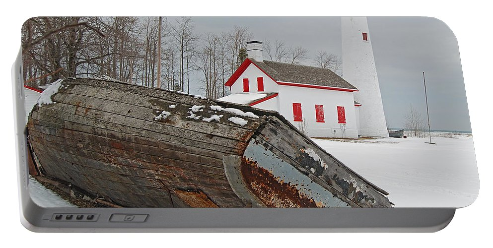 Sturgeon Point Lighthouse Portable Battery Charger featuring the photograph Sturgeon Point Lighthouse by Michael Peychich
