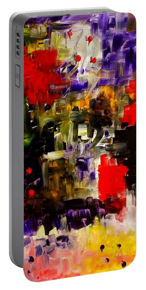 Subconscious Portable Battery Charger featuring the painting Subconscious by Paulo Guimaraes