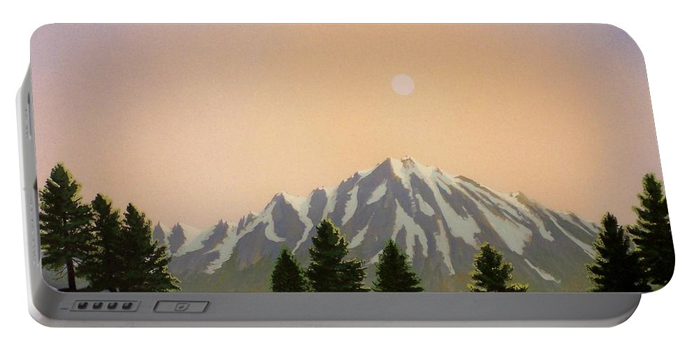 Landscape Portable Battery Charger featuring the painting Sublime Sierra Light by Frank Wilson