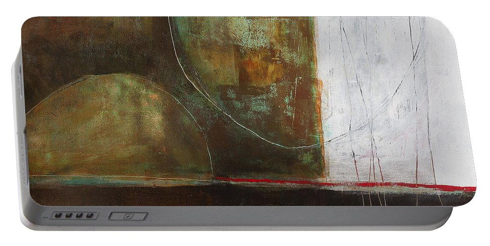 Jane Davies Portable Battery Charger featuring the painting Submerge #1 by Jane Davies