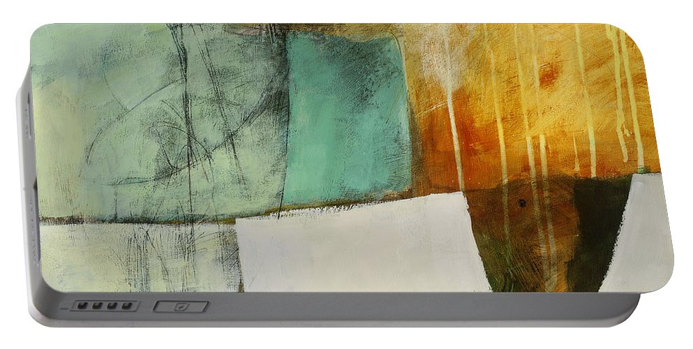Jane Davies Portable Battery Charger featuring the painting Submerge #2 by Jane Davies