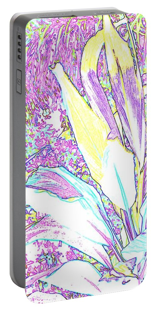 Abstract Portable Battery Charger featuring the photograph Subtle Leaf by Ian MacDonald