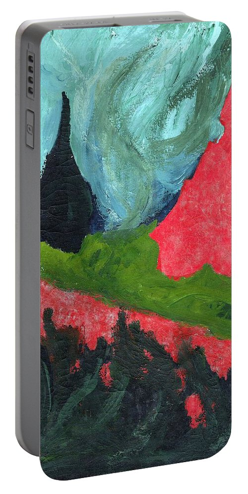 Colour Portable Battery Charger featuring the painting Such Me by Wojtek Kowalski