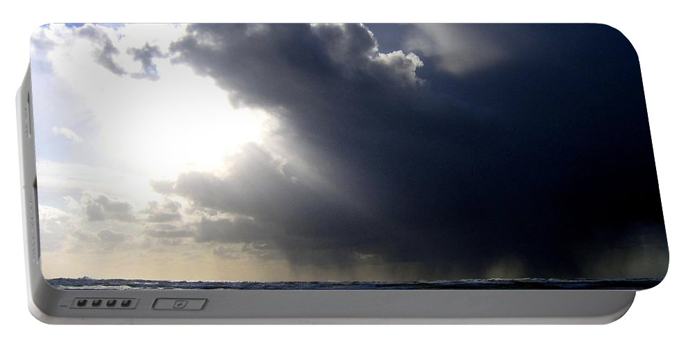 Squall Portable Battery Charger featuring the photograph Sudden Squall by Will Borden