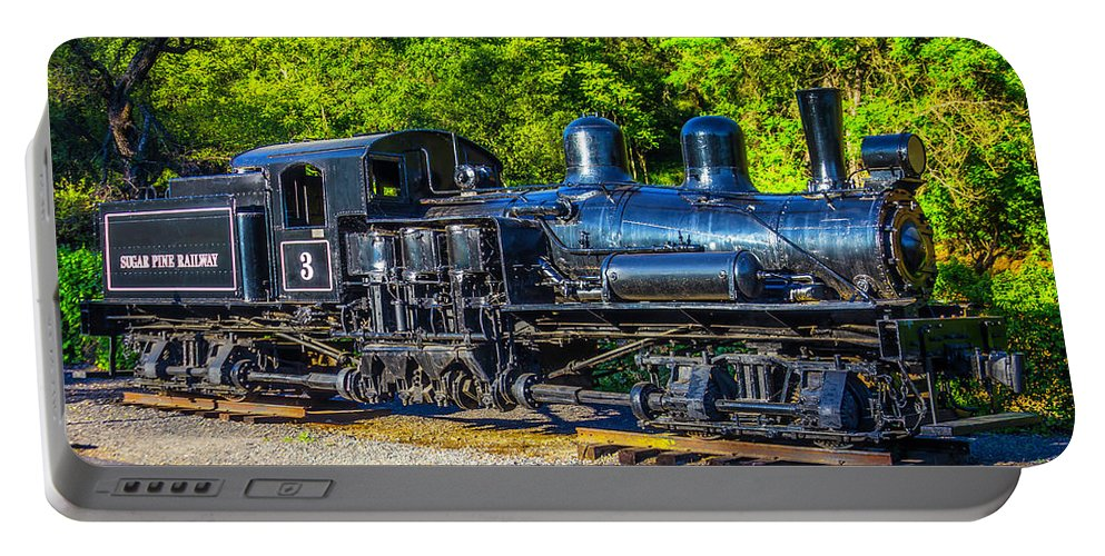 Sugar Pine Portable Battery Charger featuring the photograph Sugar Pine Railway Train by Garry Gay