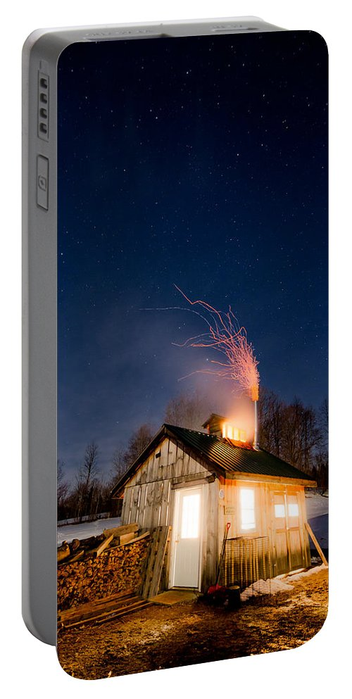 Vermont Portable Battery Charger featuring the photograph Sugaring Time by Tim Kirchoff