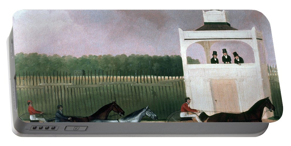 19th Century Portable Battery Charger featuring the photograph Sulky Race by Granger