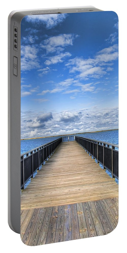 Hdr Portable Battery Charger featuring the photograph Summer Bliss by Tammy Wetzel
