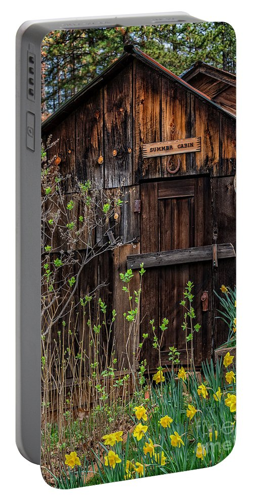 Summer Portable Battery Charger featuring the photograph Summer Cabin by Dianne Phelps