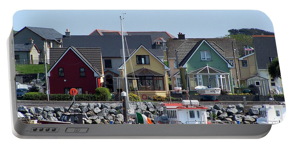 Irish Portable Battery Charger featuring the photograph Summer Cottages Dingle Ireland by Teresa Mucha