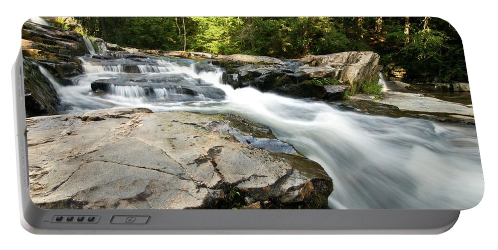 white Mountains Portable Battery Charger featuring the photograph Summer Down Hill by Paul Mangold