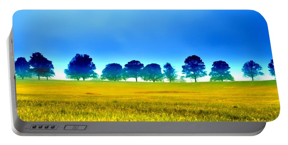 Valley Portable Battery Charger featuring the photograph Summer Field by Bill Cannon