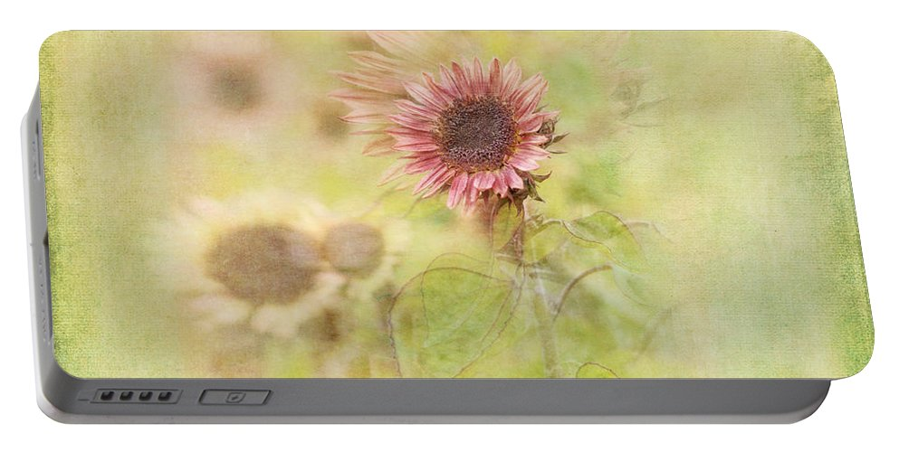Sunflowers Portable Battery Charger featuring the photograph Summer Fields by Susan Capuano