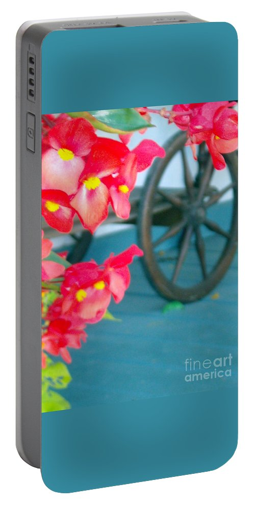 Flowers Portable Battery Charger featuring the photograph Summer Flowers by Line Gagne