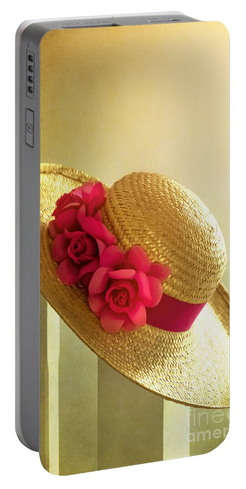 Summer Portable Battery Charger featuring the photograph Summer Hat by Svetlana Sewell